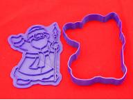 Форма для вырубки печенья и штамп Дед мороз