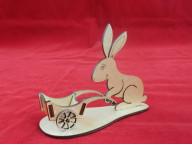 Подставка для 1 яица Кролик с телегой