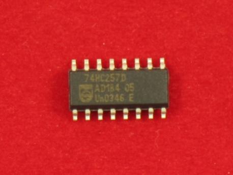 74HC257D (SOP-16), Мультиплексор