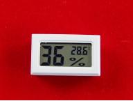 Датчик температуры и влажности с дисплеем (Белый)