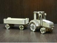 Конструктор Трактор с прицепом