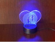 3D Светильник Сердце Романтика