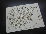Пазл-раскраска с алфавитом Слон