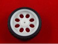 Пластиковое колесо с шиной (Ø65 мм)