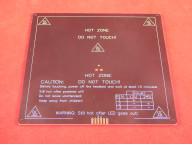 Подогреваемая платформа алюминиевая MK3 220x220х3mm с контактами для подключения термистора