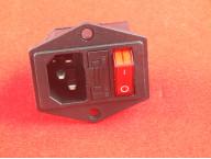 Евровилка сетевая с выключателем и предохранителем (с соединенными контактами)