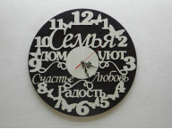 Часы круглые с бабочками