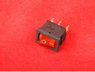 KCD1 Переключатель красный ON-OFF (10A 250VAC) 3P