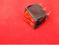 KCD4 Переключатель красный двойной ON-OFF (15A 250VAC) 6P