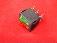 KCD4 Переключатель зелено-красный двойной ON-OFF (15A 250VAC) 6P
