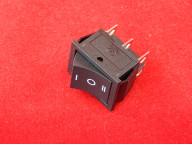 KCD4 Переключатель черный трехпозиционный ON-OFF-ON (15A 250VAC) 6P