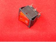 KCD4 Переключатель красный ON-OFF (16A 250VAC) 6P