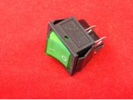 KCD4 Переключатель зеленый ON-OFF (16A 250VAC) 4P