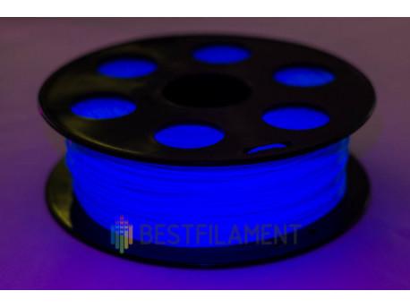 Флуоресцентный PLA пластик Bestfilament, цвет голубой, 1 кг (1,75 мм) для 3D-принтеров