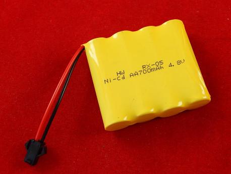 Аккумулятор Ni-cd (Никель-ка́дмиевый) 380 мАч, 4.8 В