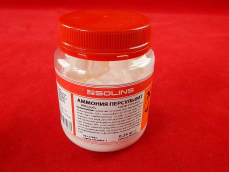 Аммоний персульфат 250г SOLINS
