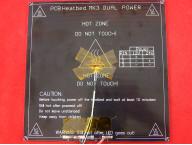 Подогреваемая платформа алюминиевая MK3 с термистором 214x214х3mm