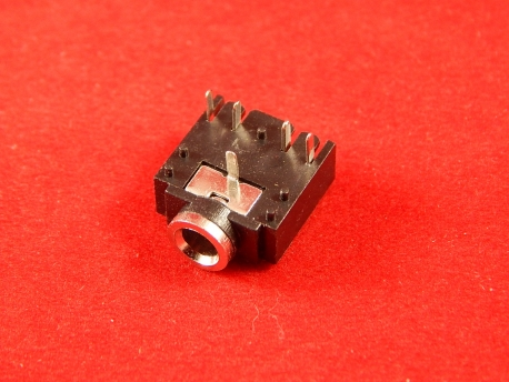 Разъем аудио 3,5мм (Мини-джек, mini-jack, 3F07), 5 pin