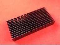 Радиатор алюминиевый чёрный 120х56х20 мм