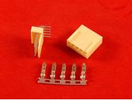 Разъем 5 пиновый KF2510-5P (г образный, комплект)