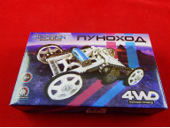 Электронный конструктор «Луноход», 4WD, цвет белый