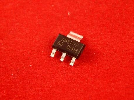 AMS1117-5.0, Стабилизатор, 800мА, 5В, SOT-223
