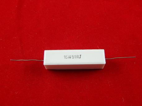 Керамический резистор 15Вт 51Ом