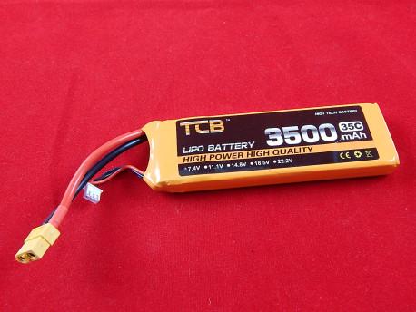 Литий полимерный аккумулятор TCB 7.4V/2S, 3500mAh, 35C