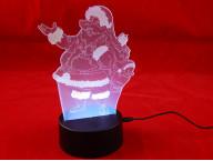 3D Светильник Дед Мороз