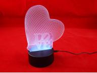 3D Светильник LOVE Сердце