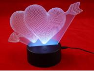 3D Светильник Сердечки