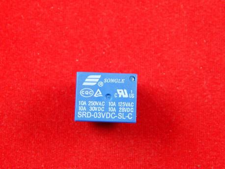Реле SRD-03VDC-SL-C, 3V, 10A