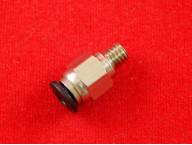 Фитинг PC4-M6 для быстрых соединений тефлоновых трубок