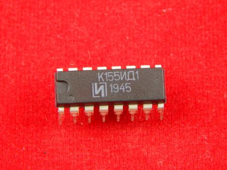 Микросхема К155ИД1, двоично-десятичный дешифpатоp с высоковольтным выходом