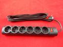 Сетевой фильтр Defender DFS155, кабель 5 м, 6 розеток, черный