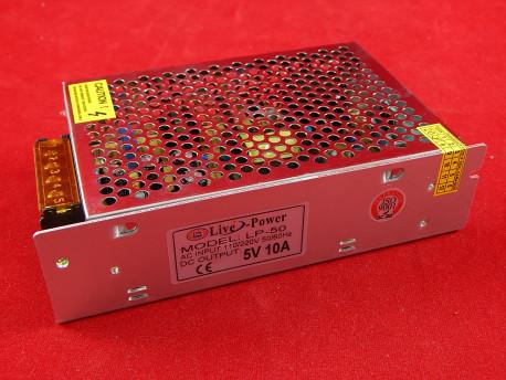 Импульсный блок питания LP-50, 5В, 10А, 50Вт