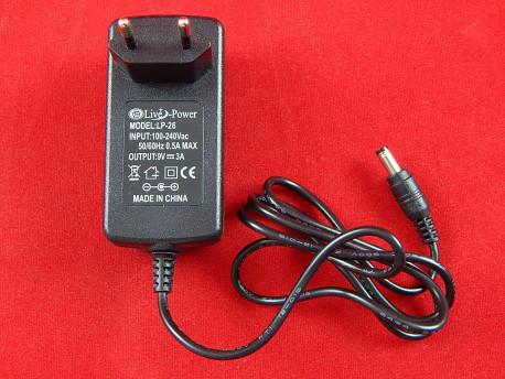 Импульсный блок питания LP-26 от Live-Power, 9V, 3A