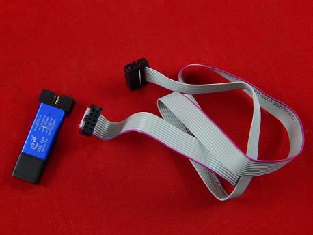 Программатор USB ISP v2.0, для AVR микроконтроллеров, в синем корпусе