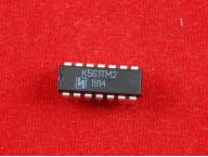 Микросхема К561ТМ2 c двумя D-триггерами, 20мкА, 15В, 2102Ю