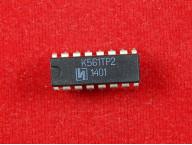 Микросхема К561ТР2, 4 RS-триггера, 15В, DIP-16