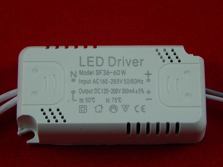 LED драйвер SF36-60W, 300 mA, 165-265V