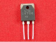 2SC4706Биполярный NPN транзистор 900В, 7А, TO-3P (Б/У)