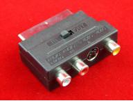 Переходник Scart - 3 RCA +S-VHS ( вх. - вых.)