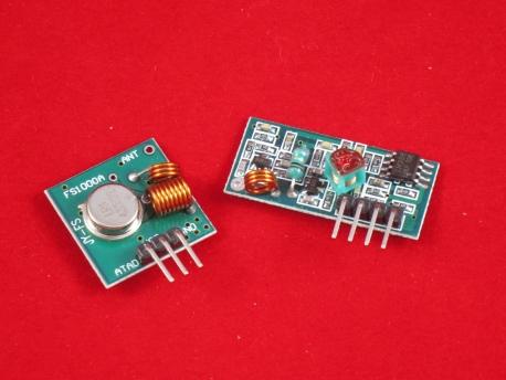 Передатчик + приемник на частоте 433МГц для Arduino