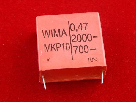 Конденсатор WIMA MKP10 0.47uF 2000V-700~ 10%