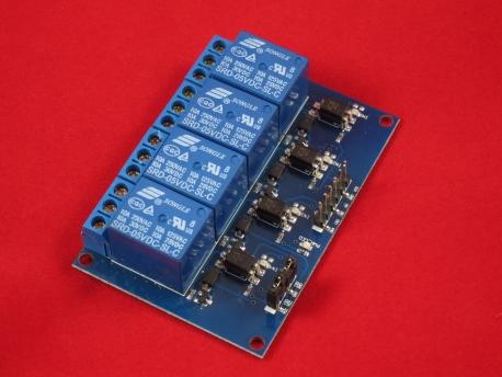 4 канальный модуль реле SRD-5VDC-SL-C