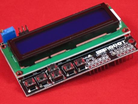 Модуль экрана с кнопками (LCD Keypad shield)