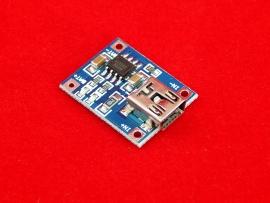 Модуль (mini USB) зарядки литий-ионных аккумуляторов на TP4056 до 1A