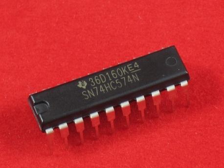 Микросхема 74HC574 (триггер, flip-flop)
