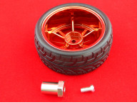 Пластиковое колесо + резиновая шина (65мм)
